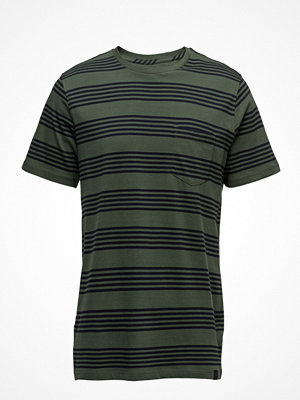 T-shirts - Lee Jeans Stripe Tee Forest Green