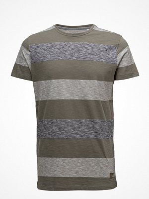 T-shirts - Lindbergh Tee W. Y/D Uneven Stripes