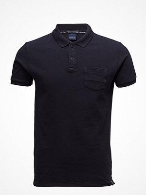 Scotch & Soda Ams Blauw Garment Dyed Polo
