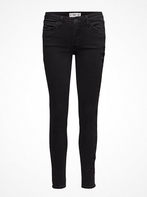 Mango Embroidered Slim Jeans