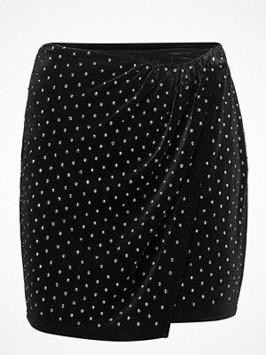 Mango Rhinestone Velvet Skirt