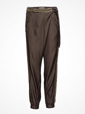 Cream mörkgrå byxor Kafi Pants
