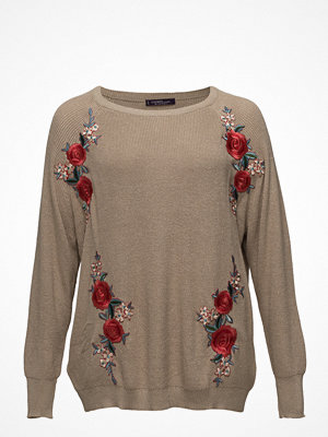 Violeta by Mango Floral Embroidery Metallic Sweater