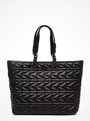 Karl Lagerfeld bags K/Kuilted Shopper svart mönstrad