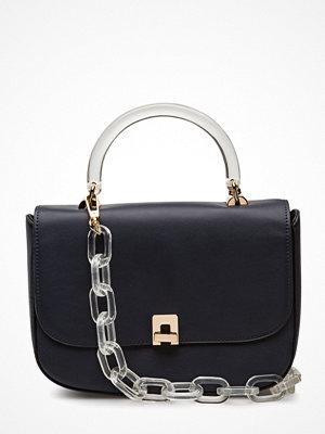 Violeta by Mango svart axelväska Detachable Chain Bag