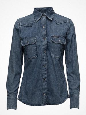 Calvin Klein Jeans Western Lean Shirt - Soho Blue