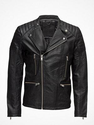 Selected Homme Shnjones Biker Leather Jacket