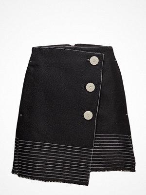 Mango Contrast Seam Skirt