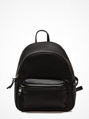 Mango svart ryggsäck Pebbled Backpack