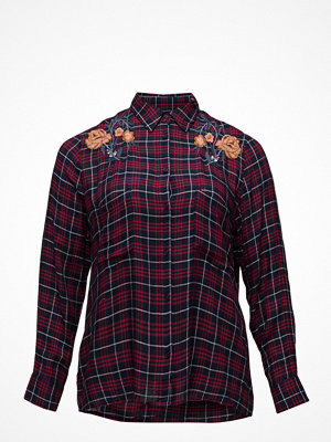 Violeta by Mango Embroidered Checked Shirt