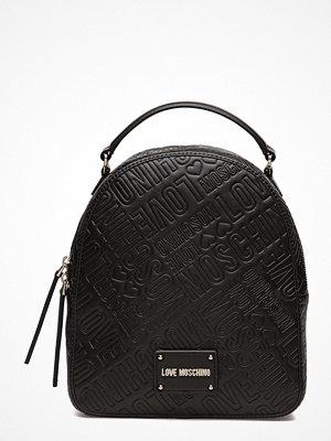 Love Moschino Bags svart mönstrad ryggsäck Love Moschino-Bag