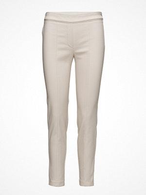 Mango vita byxor Zip-Pocket Slim-Fit Trousers