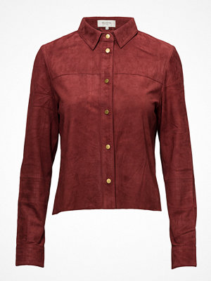 Selected Femme Sfrianta Cropped Suede Shirt