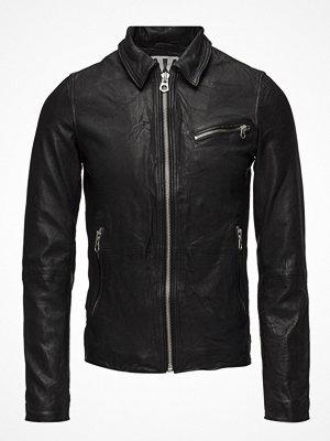 Skinnjackor - Scotch & Soda Leather Shirt Jacket