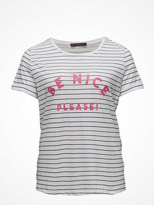 Violeta by Mango Message Striped T-Shirt