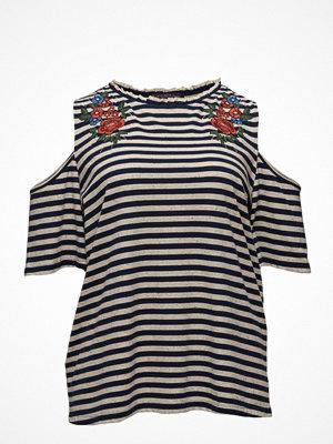 Violeta by Mango Printed Off-Shoulder T-Shirt