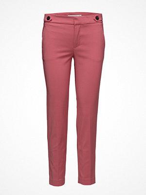 Mango rosa byxor Cropped Button Pants