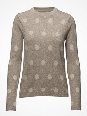 Mango Polka-Dot Metallic Sweater
