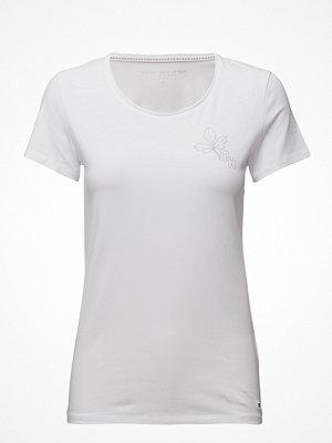 Tommy Hilfiger Lizzy Logo Diamante Round-Nk Top Ss