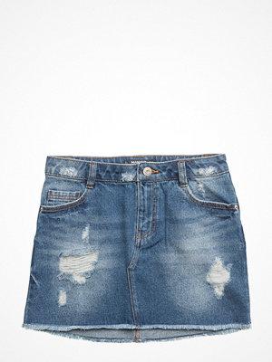 Mango Kids Ripped-Detail Denim Skirt