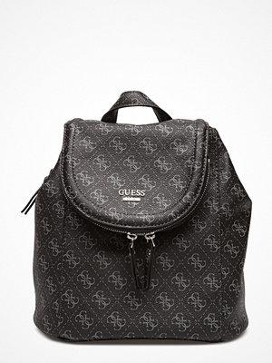 Guess grå mönstrad ryggsäck Erra Backpack