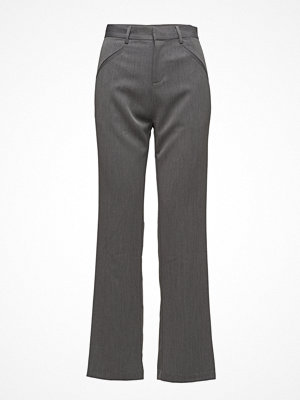 Saint Tropez grå byxor Drop Crotch Pants W Pockets