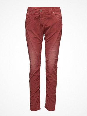 Please Jeans vinröda byxor Fine Flap Cod. Fire Brick