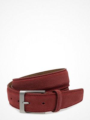 Bälten & skärp - Topeco Mens Suede Belt 35mm Nickel Free, Red