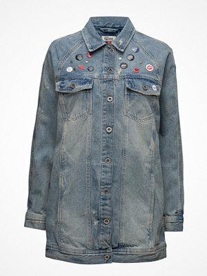 Jeansjackor - Tommy Jeans Thdw Long Oversized Jacket Remibl