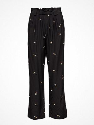 Stine Goya svarta byxor med tryck Vinnie, 260 Bees Silk
