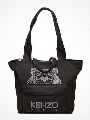 Kenzo svart shopper med tryck Bag Has Back Main