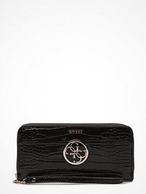 Guess svart mönstrad kuvertväska Amryn Slg Large Zip Around