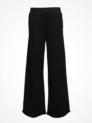 T By Alexander Wang svarta byxor Pull On Wide Leg Pant