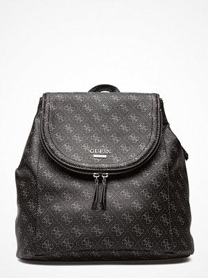 Guess svart mönstrad ryggsäck Erra Large Backpack