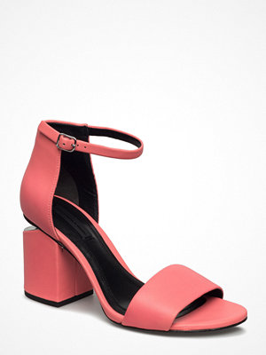 Sandaler & sandaletter - Alexander Wang Abby Fluo Coral Nappa/Rhodium