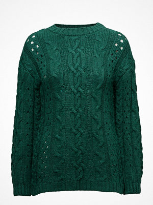 Mango Openwork Cable-Knit Sweater