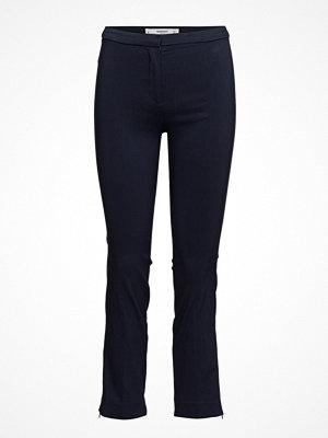Mango svarta byxor Zipped Straight Trousers
