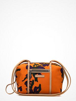 Marimekko orange axelväska med tryck Gunnel Kultarikko Bag
