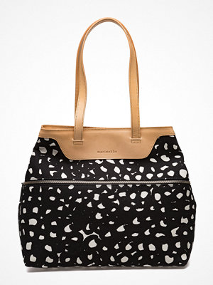 Marimekko svart mönstrad shopper Ritja Vatanuotta Bag