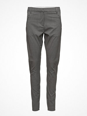 Fiveunits grå byxor Angelie 225 Light Grey Melange Slim, Pants