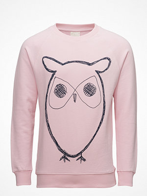 Knowledge Cotton Apparel Sweat Shirt With Owl Print - Gots