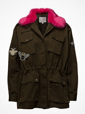 Coster Copenhagen Canvas Army Jacket W. Fur Collar &