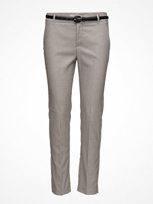 Mango grå byxor Cotton Suit Trousers