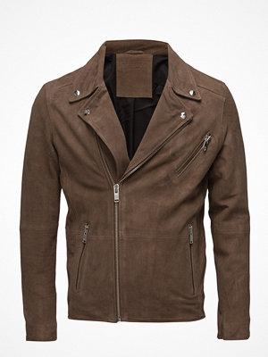 Skinnjackor - Selected Homme Shnscott Suede Biker Jacket