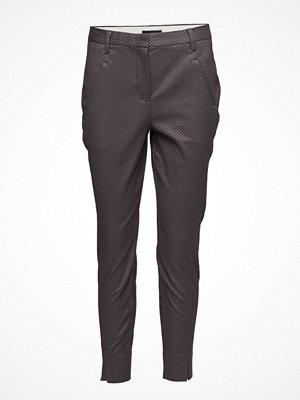 Fiveunits mörkgrå byxor Angelie 613 Split, Purple Grey Grid, Pants