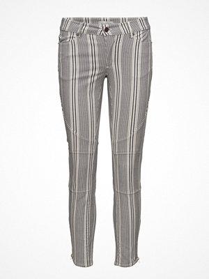 Hunkydory grå randiga byxor Billy Striped Pant