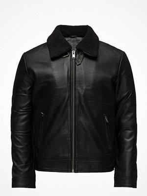 Skinnjackor - Selected Homme Shnteddy Classic Leather Jkt