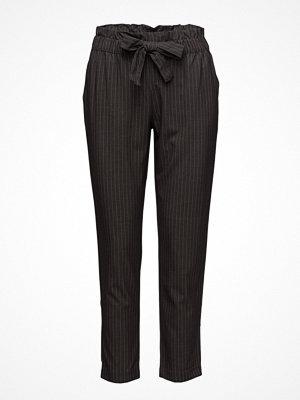Mango svarta randiga byxor Chalk-Stripe Trousers