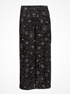 InWear svarta byxor med tryck Beretta Pant Lw