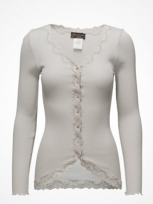 Rosemunde Silk Cardigan Regular Ls W/Rev Vintage Lace